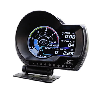 LUFI XF OBD2 Digital Turbo Boost Oil Pressure Water Temperature Gauge For Car RPM Air Fuel Ratio Speed EXT Oil Meter image