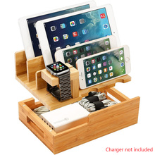 charging dock station stand holder for airpods ipad air mini apple watch for iwatch 38 42 40 44mm for iphone x xr xs max 8 7plus Cell Phone Tablet Holder Bamboo Wood Charging Station Cable Storage Box Dock Stand For Apple Watch iPad mini iPhone 11 Pro 8 Xs