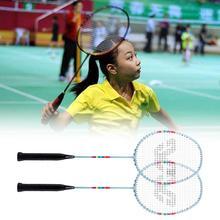 1 Set R18 Badminton Rackets Rainbow Print Firm Frame High Tension String Premium Quality Badminton Rackets Set for Indoor