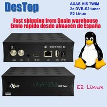 Axas Seine Twin DVB S2/S HD Rätsel 2 Satellite TV Empfänger WiFi + Linux E2 Öffnen ATV H.265 TV box