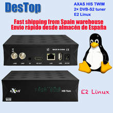 Receptor de tv por satélite axas seu twin DVB S2/s hd, enigma 2, wifi + linux e2, atv aberto, h.265 tv caixa de caixa