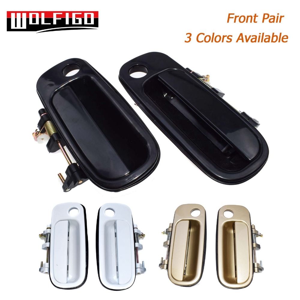 New 92-96 Camry Black Outside Exterior Door Handle Right /& Left Rear PAIR Set
