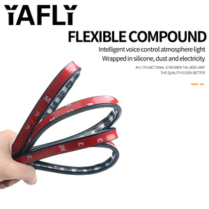 Image 3 - YAFLY Car RGB LED Strip Light LED Strip Lights Colors Car Styling Decorative Atmosphere Lamps Car Interior Light With Remote 12V