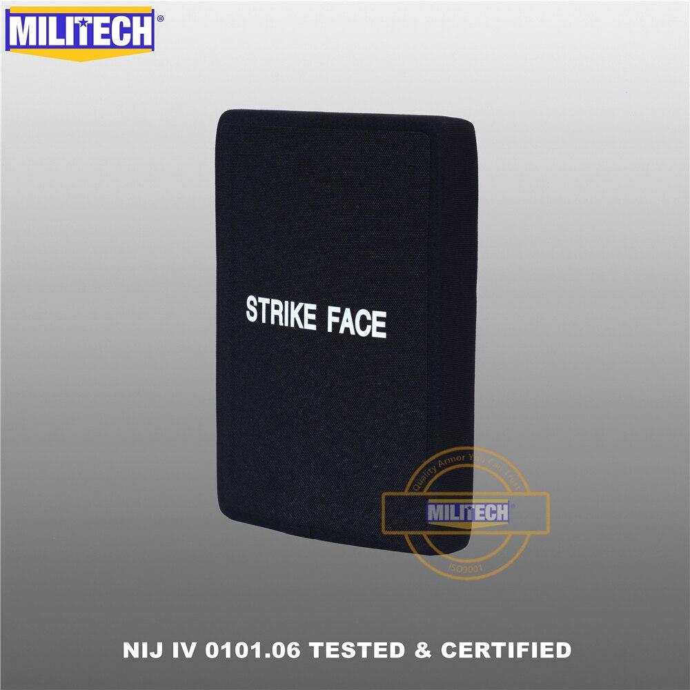 Bulletproof Side Plate NIJ IV 0101.06 One Piece 6x8 Alumina Ceramic&PE Stand Alone Ballistic Armor P