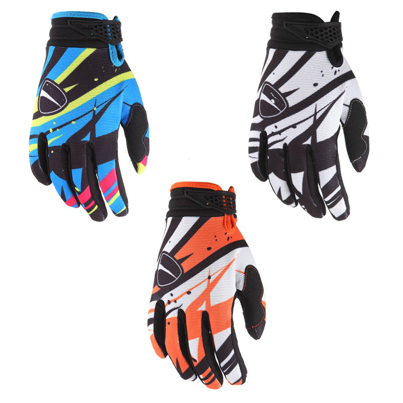 Mountain Cycling Bike Riding Gloves Full Finger Non-Slip Gloves Off-Road Motorcycle Locomotive Gloves Universal Washable