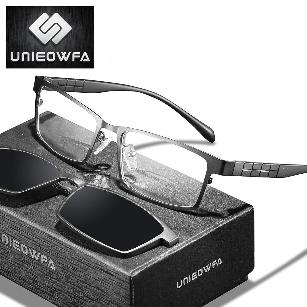 Armação de Óculos Armação para Óculos de Grau 2 em 1 Magnética Polarizada Masculina Miopia