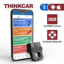 THINKCAR 1S Car Diagnostic Tool OBD2 Scanner Code Reader Full System Full OBDII Functions Automotivo DTCs Lookup Print Report