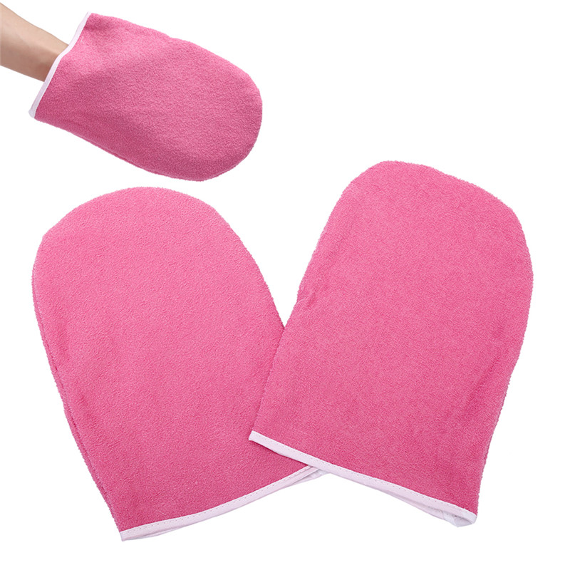 1pair Professional Mini SPA Cotton Mittens Wax Protection Gloves Hand Gloves For Warmer Wax Heater Paraffin Wax Protection