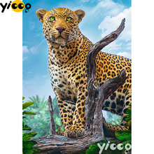 Full Square/Round drill diamond Painting Wild Leopard 5D DIY diamond embroidery mosaic Decoration painting AX0110 full square round drill diamond painting sweet love 5d diy diamond embroidery mosaic decoration painting ax0110