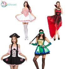 Female four vampire cosplay Halloween costume Exported European code stage queen festival party