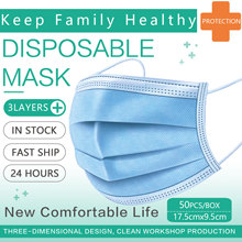 Disposable Face Mask 3 Layer Filter Face Mask Disposable Mask Dust Protective Face Masks Mouth Mask Breathable Mask Mascarillas