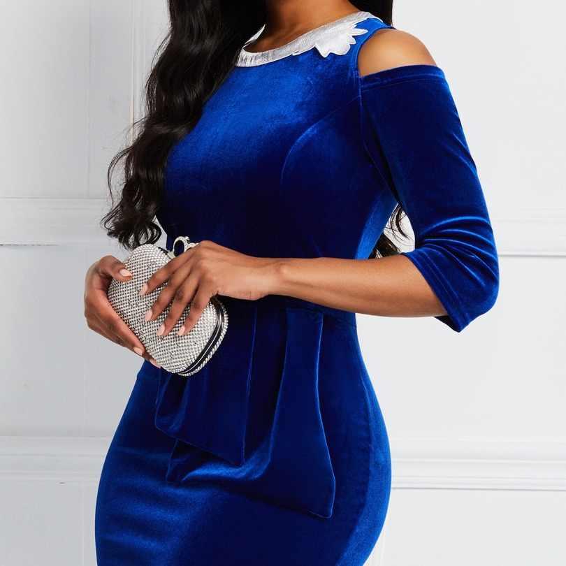2019 nuovo arrivo di autunno elegent stile di modo africano di bellezza delle donne più il formato vestito lungo M-3XL