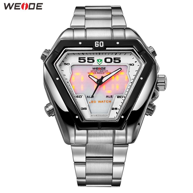 WEIDE Watch Men Relogio Analog Movement Luxury Brand Bussiness Quartz Waterproof Military Wrist Relogio Masculino Men's Watches