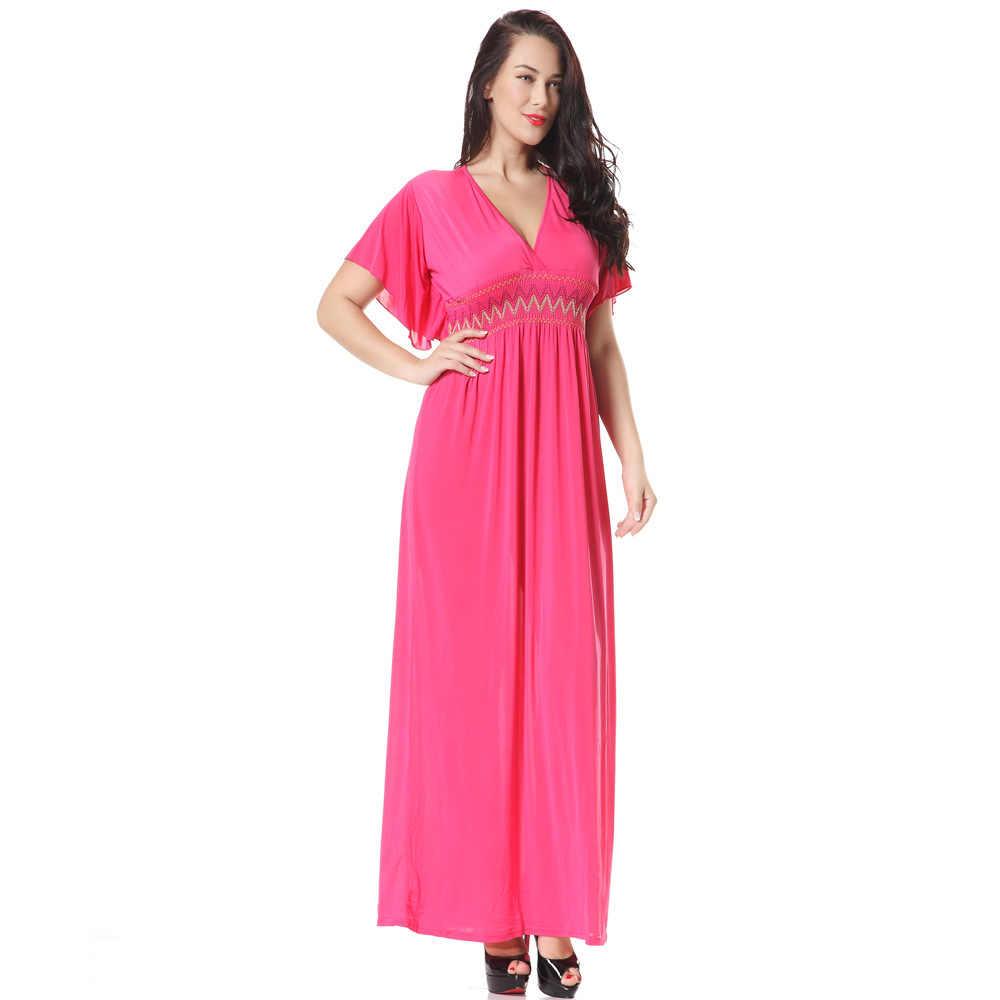 Ropa mujer 5XL Plus rozmiar sukienki czeskie lato ukraina kobiety Maxi długa sukienka duży rozmiar kobiet Vestidos plaża letnia sukienka 6XL