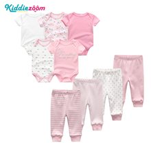 New 9PCS LOT Baby Girl Clothe Roupa de bebes Baby Boy Clothes Soft Cotton Baby Clothing Sets Baby Boys Clothes Girls Clothing cheap kiddiezoom Active Broadcloth REGULAR Fits true to size take your normal size O-Neck Unisex TP01 Vest Short 100 COTTON cartoon
