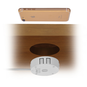 Image 2 - Invisible Fast QI Wireless Charger For iPhone 11 Samsung Hidden Embedded Adsorption Suspension Wireless Charging Pad For Xiaomi
