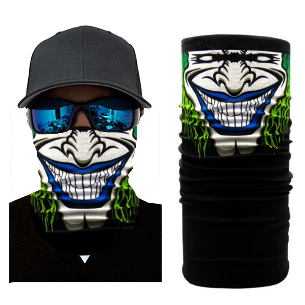 Black Full Face Shield Winter Balaclava Face Motorcycle Windproof Face Mask Ghost Tactical Mask 3D Skull Sport Neck Warm Outdoor