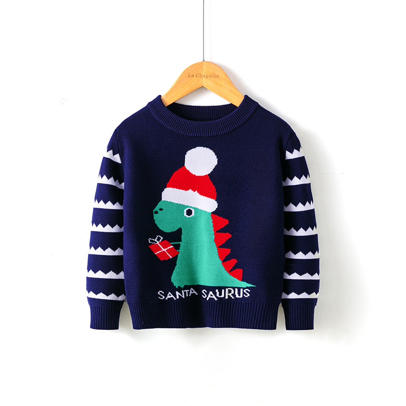 2021 Baby Girls Boys Sweater Christmas Costume Autumn Children Clothing Knitwear Boy Girl Pullover Knitted Sweater Kids Sweaters 5