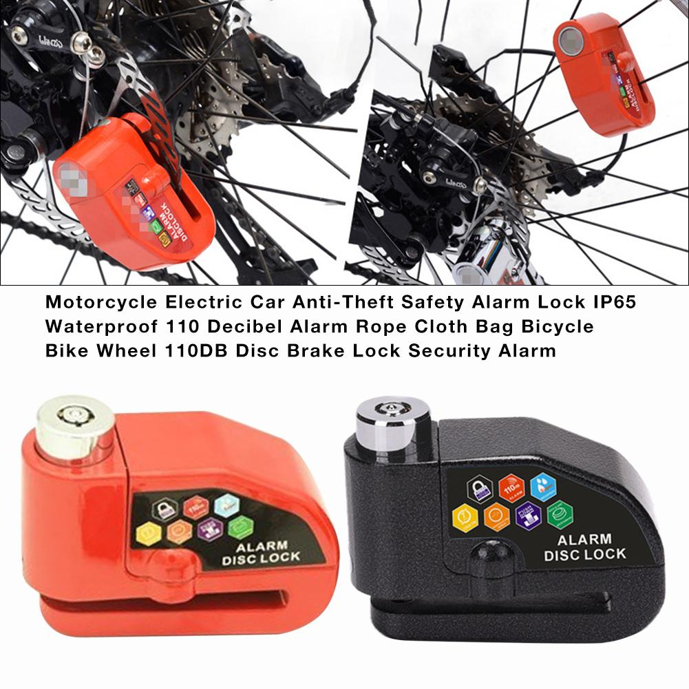 Motorcycle Electric Car Anti-Theft Safety Alarm Lock IP65 Waterproof 110DB Disc Brake Lock Security Alarm Motorcycle Accessories