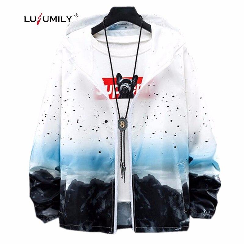 Lusumily Jacket Women stampato Star Loose Plus Size 5XL Summer Windbreaker Female Thin Coat Sportwear Beach camicetta protettiva per il sole
