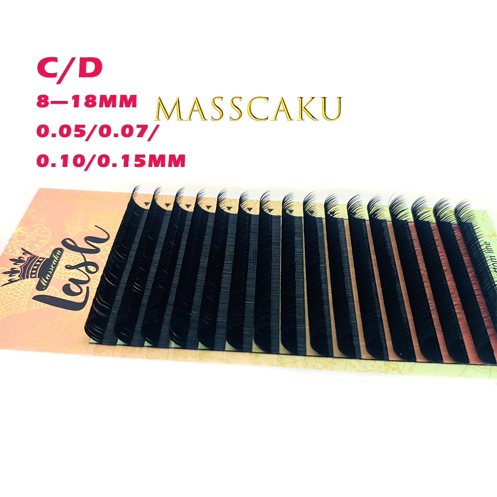 MASSCAKU Eyelashes Makeup Cilios High Quality Mink Lashes Faux cils Individual Eyelash Lash Extension for Professionals