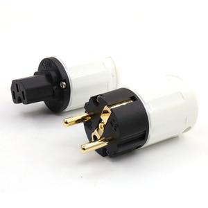 Image 4 - Free shipping 24k Gold Plated SCHUKO standed Power Plug EU version power plug