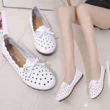 casual women shoes casual slip on flats women shoes new flock pointed toe butterfly knot ballet dancing shoes mujer zapatos w138 2020 fashion Woman Flats Shoes Women Casual Butterfly Knot Hollow Out Summer Shoes Female Pointed-toe Shoes Zapatos Mujer h39