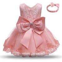 Vestido de princesa de encaje para niñas pequeñas, vestido de bautizo para fiesta de 1ª y 2 ° cumpleaños, trajes de bautismo bebé recién nacido, ropa de Navidad