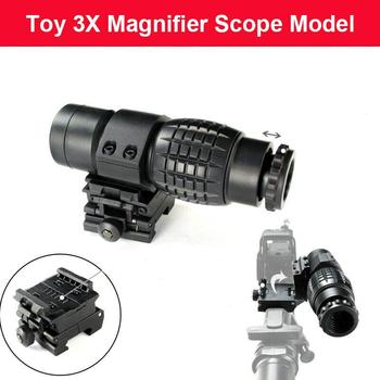 цена на ZHENDUO 3X Magnifier Sight Scope for 20-21mm Rail Free shipping for toy gun accessories BOY TOY