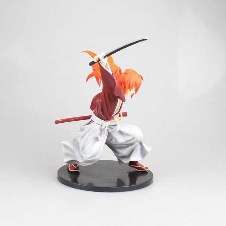 18cm Rurouni Kenshin Himura Kenshin Ação Pvc Figuras Brinquedos Clássicos Japoneses Anime Figura Brinquedos Para As Crianças Presentes de Natal Das Crianças