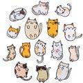 Cartoon Fett Katze Serie Stickerei Hot Melt Kleber Self-adhesive Handy Shell Dekoration Kleidung Hosen Socken Eisen auf patches