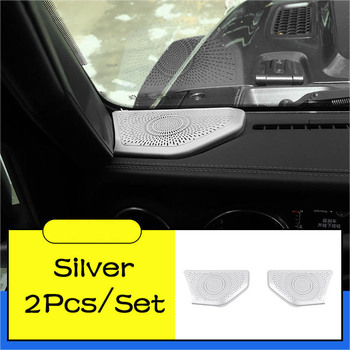 Car Central Control Audio Cover A-pillar Speaker Grille Decoration Accessories for Jeep Wrangler JL 2018 2019 2020