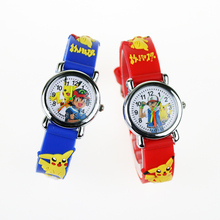 Nowe zegarki dla dzieci 3D Cartoon dla dziewczynek wysokiej jakości guma studenci chłopcy zegarek dla dzieci zegarki kwarcowe reloj infantil tanie tanio POPLOV 3Bar Moda casual QUARTZ ALLOY Klamra CN (pochodzenie) Szkło 20cm Nie pakiet 25mm RUBBER W1118 ROUND 18mm Odporny na wstrząsy