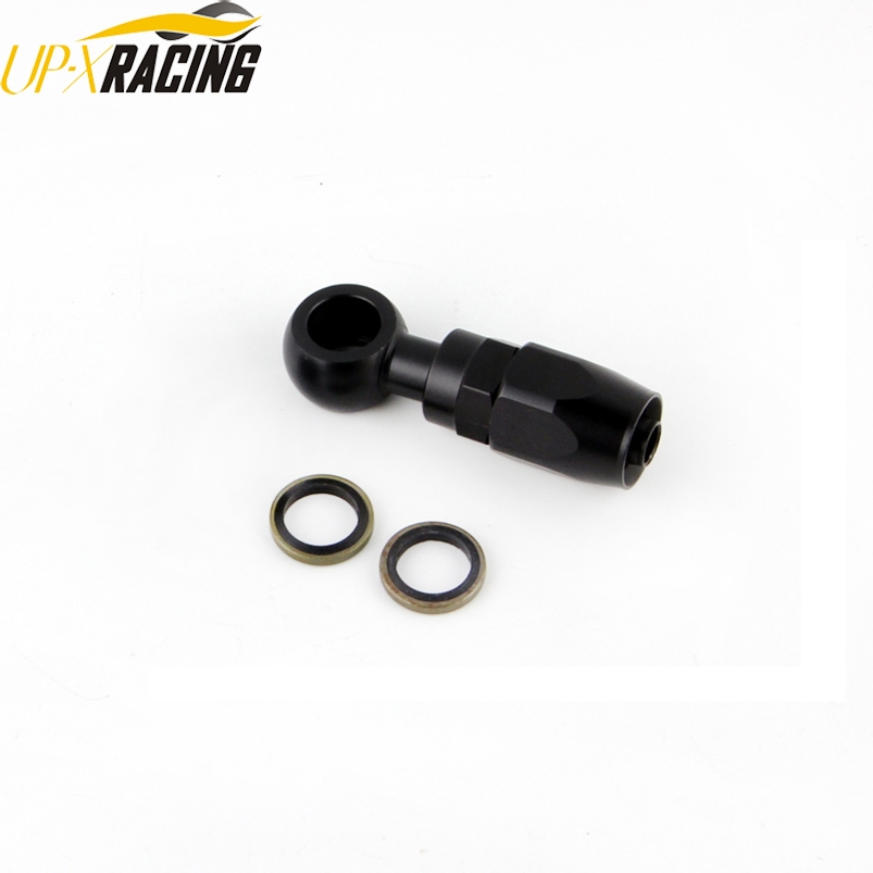 car motorcycle hydraulic stainless steel nylon AN6 hose fitting banjo 12mm 14mm Fitting