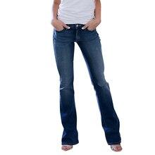 New Fashion 2019 Brand Stretch Jeans Woman Skinny Pockets De