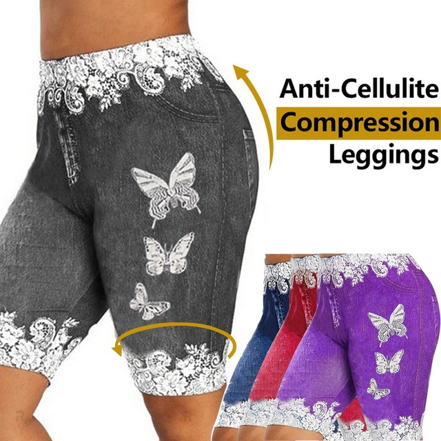 Women High Waist Printing Shorts Lace Patchwork Fitness Leggings Female Soft Shorts Summer Fashion Sport Gym Shorts