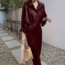 Robe Sundress Linen Neck Long-Sleeve Vestidos Party Kaftan7 ZANZEA Elegant Women Cotton