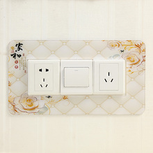 Acrylic switch stickers simple three open socket power wall home acrylic