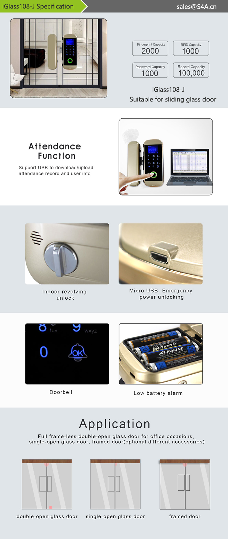 iGlass108-J lock