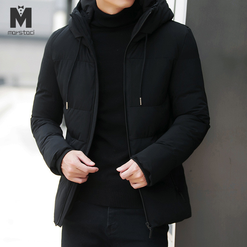 Men Jacket Coats Outwear Hooded Military Casual Winter Parka Cotton-Padded Thick New title=