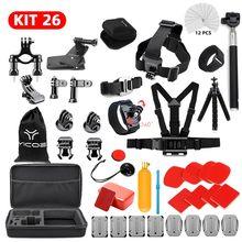 For Go Pro Hero 7 6 5 4 Accessories Kit for Gopro 7 Session For EKEN SJCAM Xiaomi Yi 4k Case For Mijia Action Sport Camera