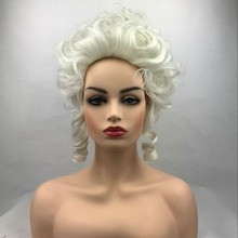 Высокое качество Марии Антуанетта Принцесса средний волнистый парик для косплея термостойкие синтетические волосы косплей парики+ парик