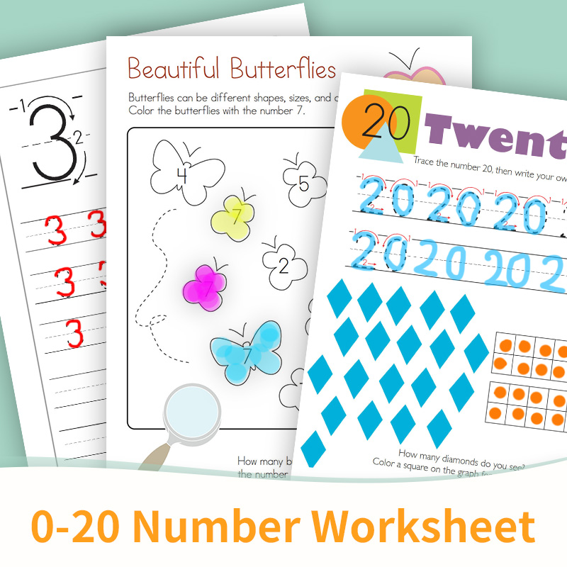 Learn English 1 20 Number Classroom Game Workbook Preschool Teaching  Educational Toys For Children Worksheets Kids- AliExpress