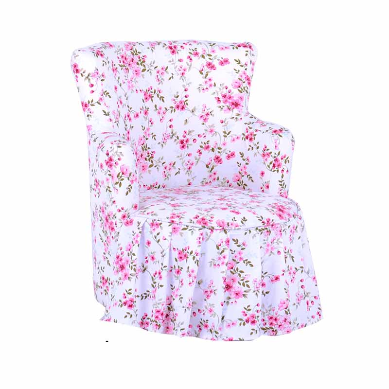 Fabric Art Broken Flowers Single Person Princess Sofa Lovely One Seat Baby Sofa Children Bedroom Zitzak Bean Bag Nordic