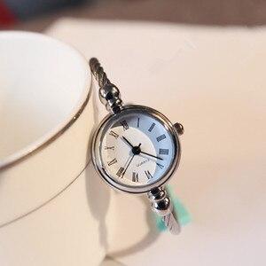 Image 1 - Luxury Women Watch Bracelet Simple Fashion Female Clock Simple Quartz Wrist Watch Women relogio feminino reloj mujer 2019