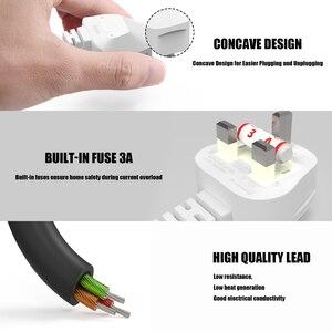 Image 5 - 3M สีขาว UK สายไฟ AC 3 มุม 90 องศา IEC C7 รูป 8 สำหรับ Samsung LG SONY Sharp LED TV, PS4 PS3 สายไฟ