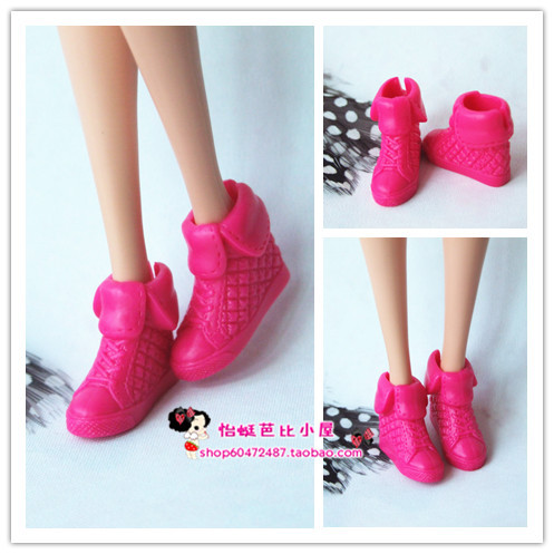 1/6 Doll Shoes Mix style High Heels Sandals Boots Colorful Assorted Shoes Accessories For Barbie Doll Baby Xmas DIY Toy 4