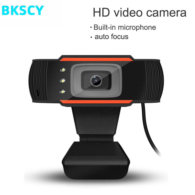 BKSCY USB Web Camera  Web Cam 360 Degree Rotatable with MIC Clip-on Webcam for Skype Computer Notebook Laptop PC Usb Camera