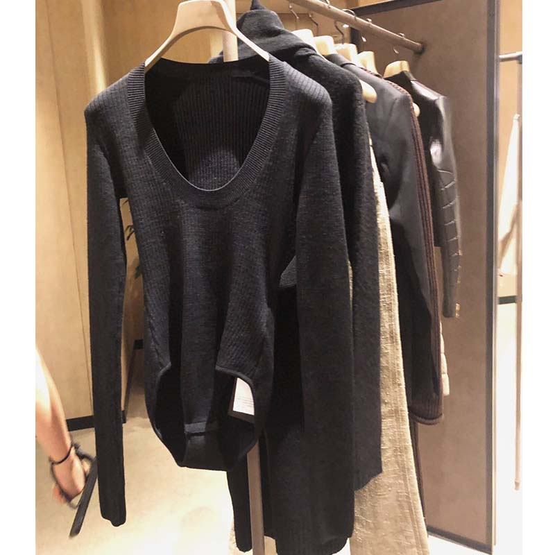 Cosmicchic Women Long Sleeve Knitted Wool Bodysuit 2019 Autumn Winter O Neck Sexy Bodycon Top Quality Party Club Solid Body