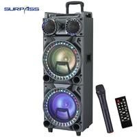 Altavoz portátil con Bluetooth para Karaoke, amplificador de Sonido Profesional de 10 pulgadas, doble luz LED para fiestas al aire libre, Cenima en casa